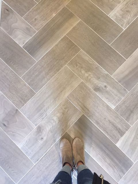 grey wood look tile floors