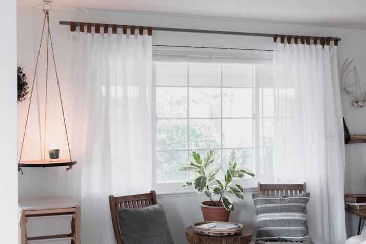 Blinds.com Custom Curtains with DIY Leather Tabs