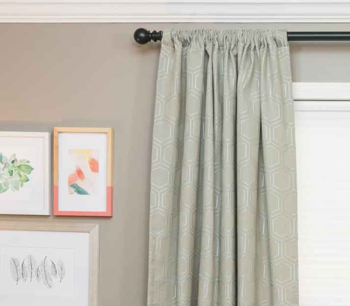 Blinds.com Easy Rod Pocket Draperies in Hexi Platinum
