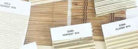 woven wood shade samples