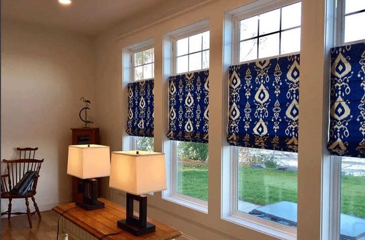 Roman Shades Add Color To An Upstate New York Homestead