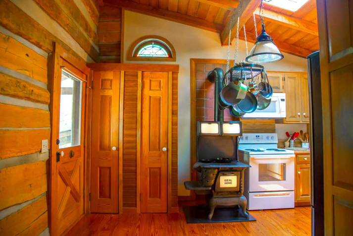 Natural Light in Log Cabin