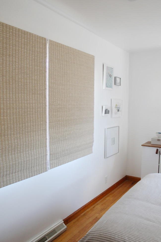 woven shades bedroom