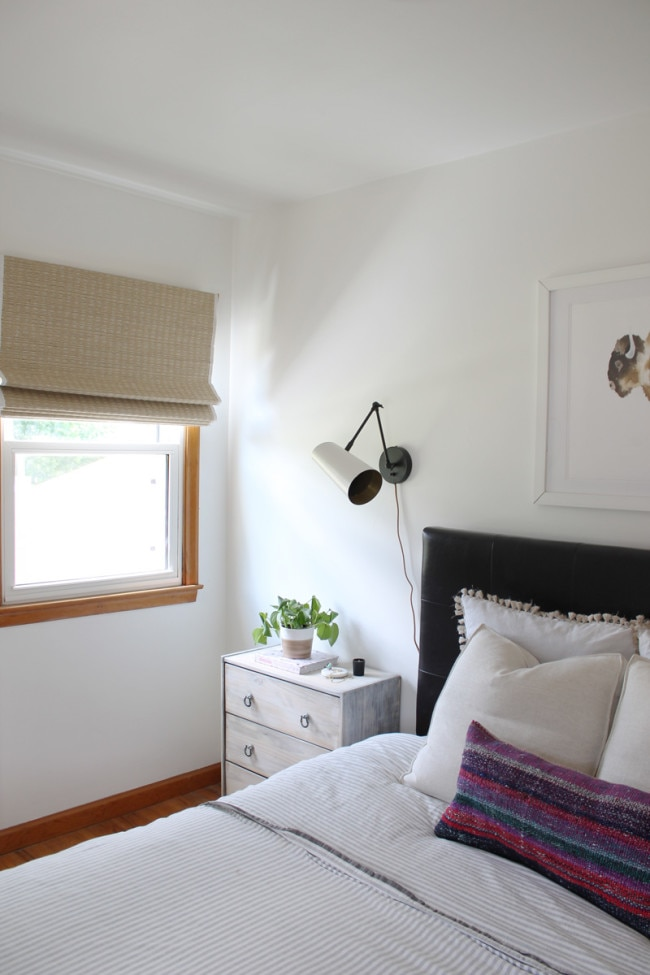 woven wood shades for bedroom