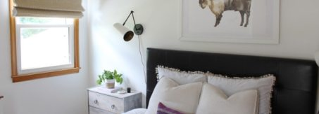 woven wood shades bedroom - blog