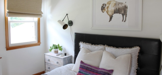 woven wood shades bedroom - blog