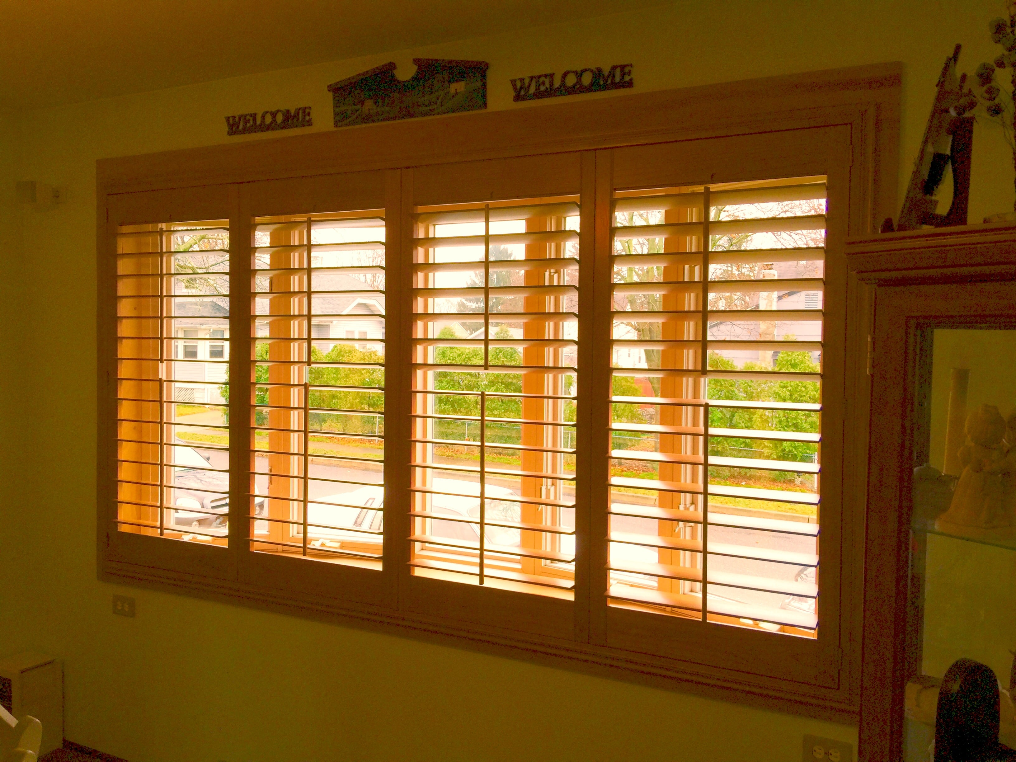 Sliding Glass Doors Can You Put Plantation Shutters On