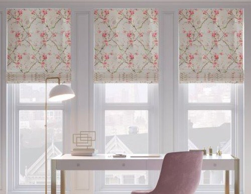 floral roman shades
