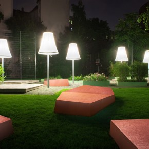 BlingCrete™ – Giant Seating Furniture for Student's Residential Complex