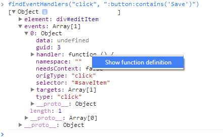 click show function definition