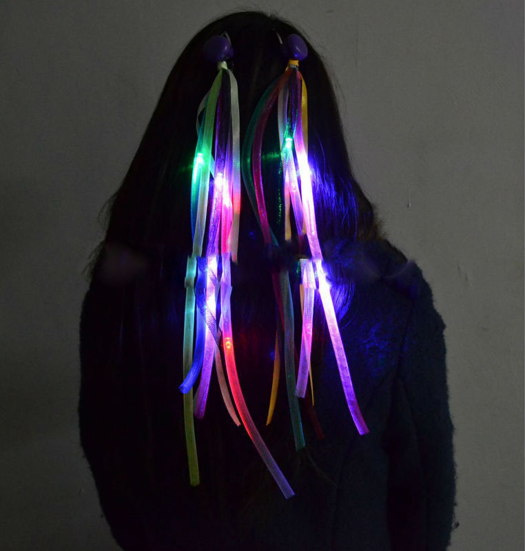 35cmFlashing LED Braid Novelty Hair Extension Light Up