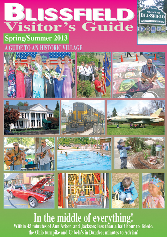 Blissfield Visitor's Guide in this week's Advance