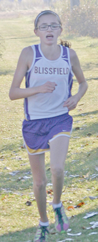 Keelie Cairo Lenawee County's female cross country champ