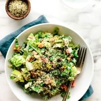 Super Veggie Vegan Chopped Salad with Cashew Ranch Dressing