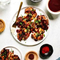 Crispy BBQ Smashed Potatoes