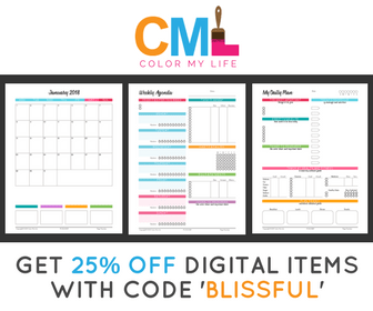Get 25% off digital Color My Life items