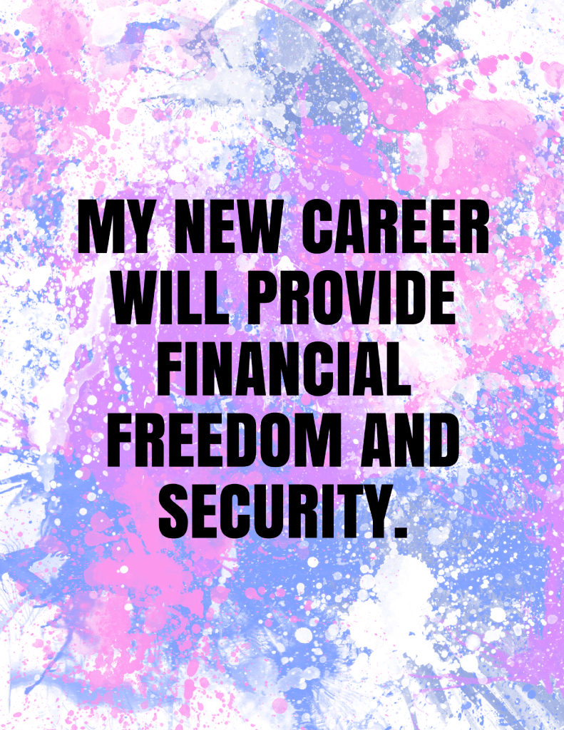 Career affirmations to help you in your job search, interview, and new career. Read more at blissfullemon.com