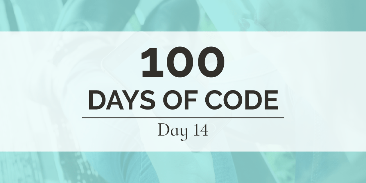 The second week of my 100 Days of Code challenge is over in just a few short hours! Although it is hard to believe these last few weeks have passed so quickly, it is even more exciting to know how far I have already come.