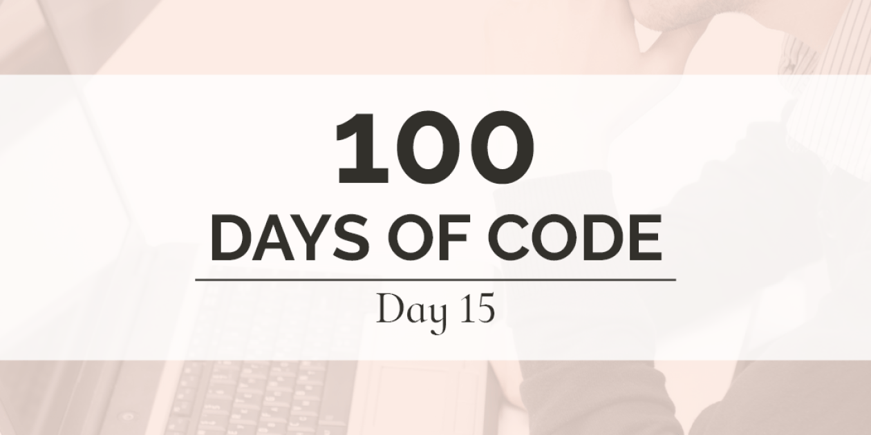 It has been a difficult day, but I am pushing through. I'm batting .500 with today's 100 Days of Code goals. Persistence and dedication are going to be key to rocking this challenge.