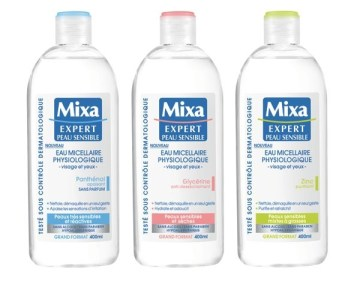 gamme eaux micellaires physiologique mixa