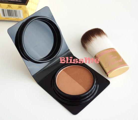 Too Faced Glow To Go Powder mit Pinsel Bronzer Bronzing Set