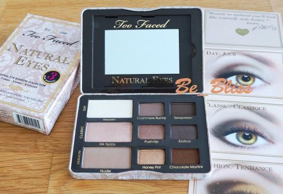 Too Faced Natural Eye Lidschatten Palette