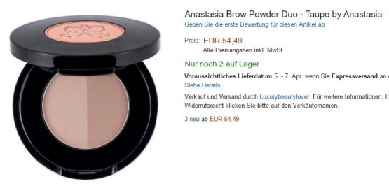 "Anastasia Beverly Hills Brow Duo Powder ""Carmel"""