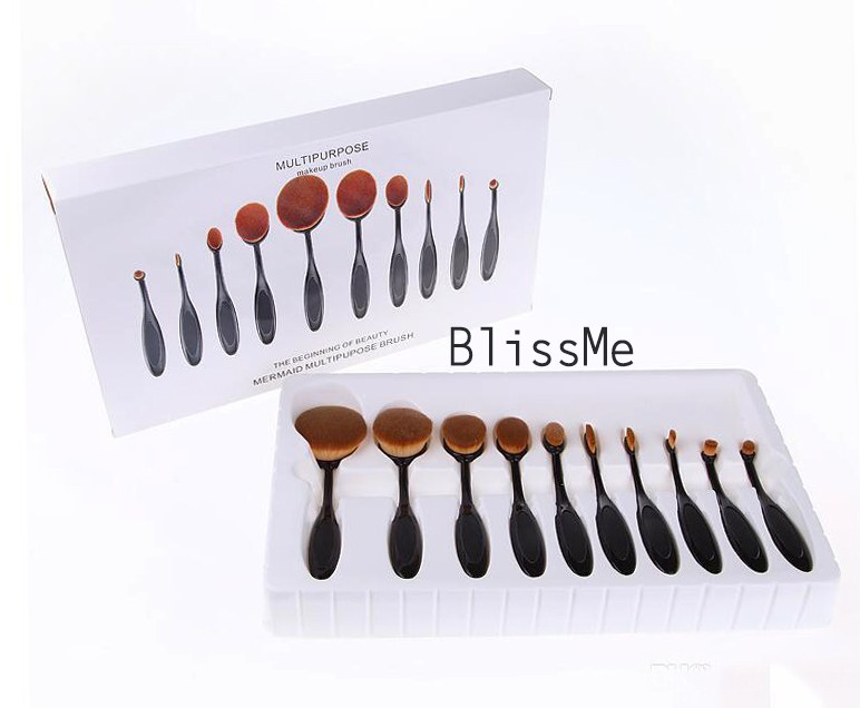 New Oval Brush Make Up Pinsel Set Pinceau Set Blissme