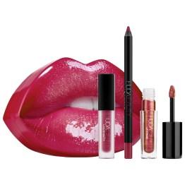 "Huda Beauty Contour and Strobe Lip Set ""Trophy Wife & Shameless"""