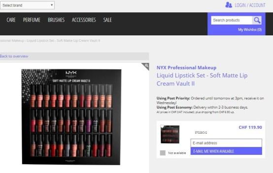 NYX Professional Soft Matte Lip Cream Vault ll