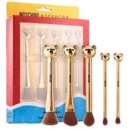 Sephora x Moschino Collection Bear 5 Piece Brush Set