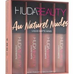 "Huda Beauty Liquid Mini Lip Set ""The Au Naturel Nudes Edition"""