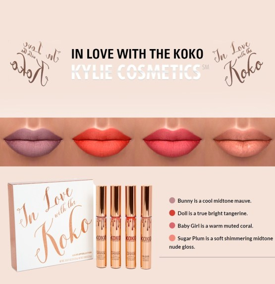 Kylie In Love With The Koko Lip Set