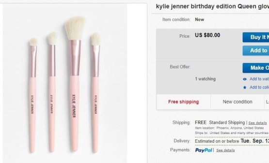 Kylie Birthday Collection 4 pcs Brush Set