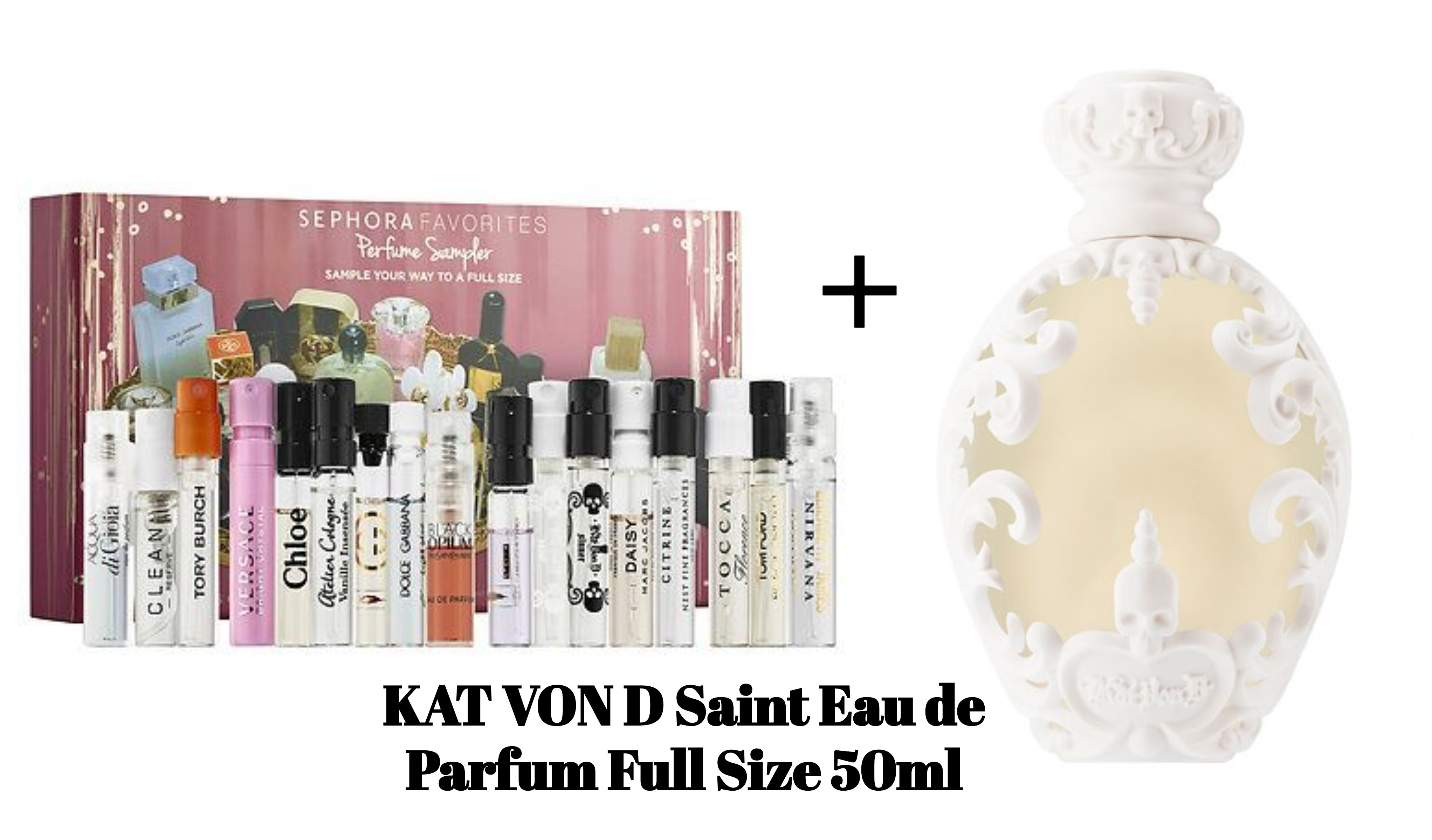 Edit  Sephora Favorites Perfume Sampler Set + Full Size KAT VON D Saint Eau  de 6da6b18ec22d