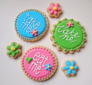 First Birthday - Girl Custom Cookies - Take Me