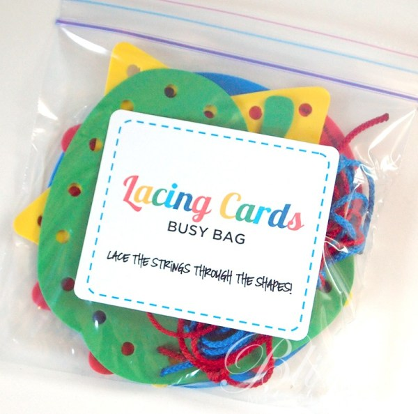 Lacing Cards Busy Bag