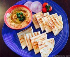 Grilled Pita with Hummus, Grilled Pita