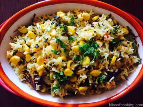 Methi & Corn Pulav, Methi Corn Biryani
