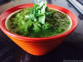 Green Chutney, Coriander & Mint Chutney, coriander sauce, mint sauce