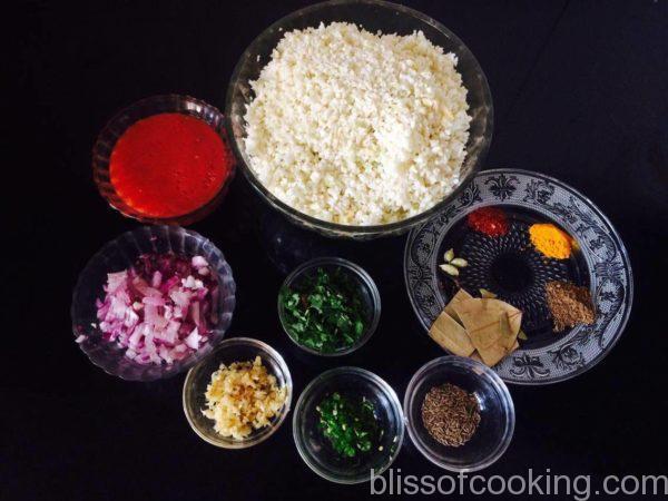 Ghuti Hui Gobhi Ki Sabzi - Cauliflower Bhurji
