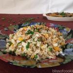 Burnt Garlic Corn and Peas Fried Rice
