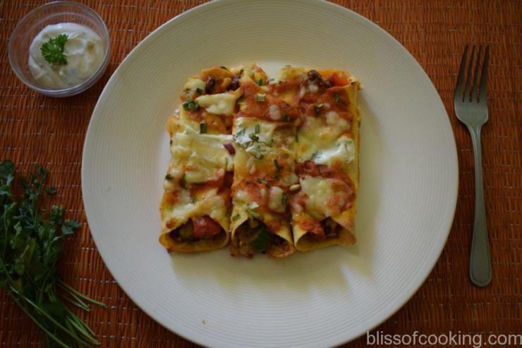 Cheesy Baked Vegetable Enchilada