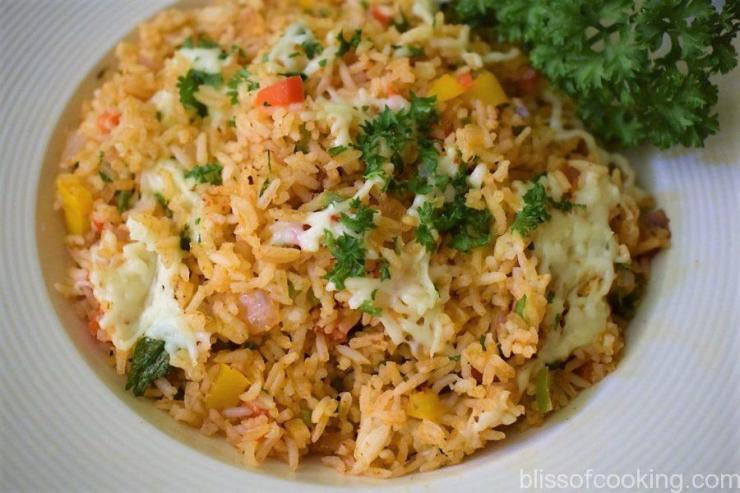 Cheesy Cajun Fried Rice