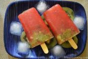 Kiwi and Watermelon Popsicle