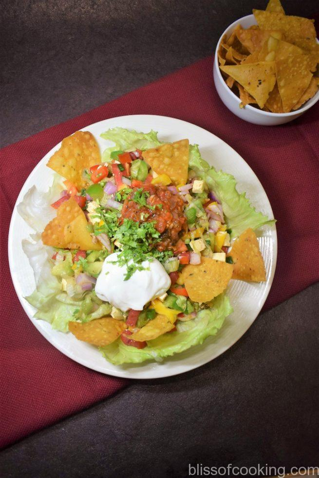 Mexican Salad with Nacho Chips