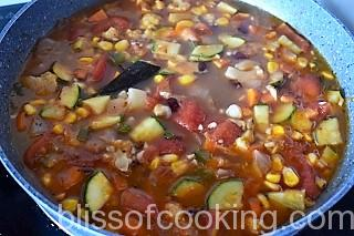 Chilli Vegetables with Beans