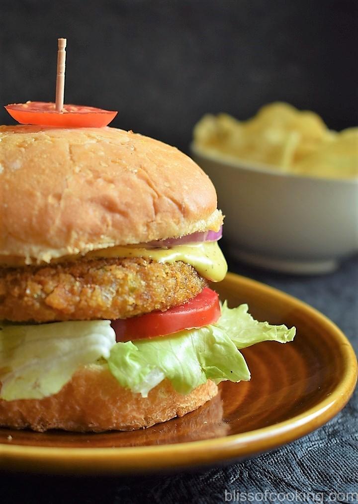 Double Cheese Veggie Burger