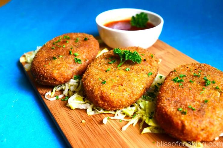 Paneer and Vegetable Cutlet, Cottage Cheese Vegetable Patty