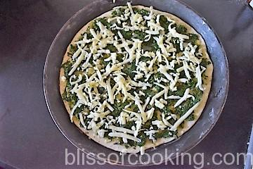 Spinach And Corn Pizza